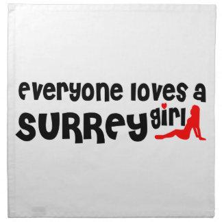 Everybody loves a Surrey Girl Napkin