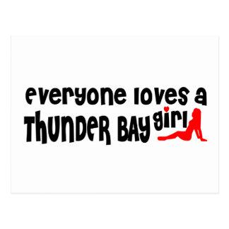 Everybody loves a Thunder Bay Girl Postcard