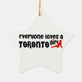 Everybody loves a Toronto Girl Ceramic Ornament