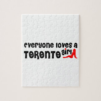 Everybody loves a Toronto Girl Jigsaw Puzzle