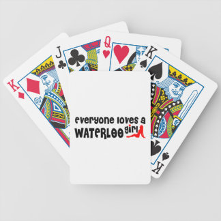 Everybody loves a Waterloo Girl Bicycle Playing Cards