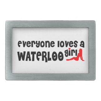 Everybody loves a Waterloo Girl Rectangular Belt Buckle
