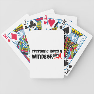 Everybody loves a Windsor Girl Bicycle Playing Cards
