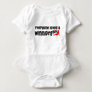 Everybody loves a Winnipeg Girl Baby Bodysuit