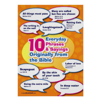Everyday Bible Phrases 1 Poster