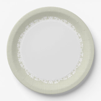 Everyday-Dinner-Ware(c)Ecru-Lace 9 Inch Paper Plate