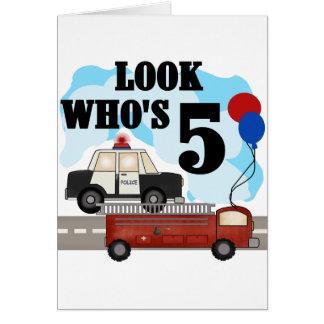 Everyday Heroes 5th Birthday Tshirts Greeting Card