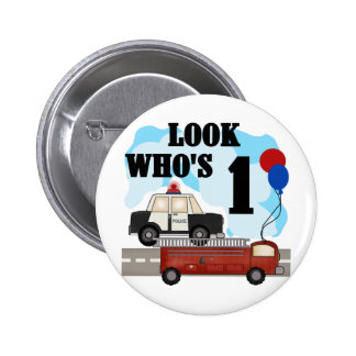 Everyday Heroes First Birthday Tshirts and Gifts 6 Cm Round Badge