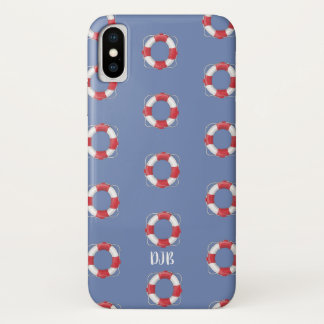 Everyday Heroes Life Preserver (blue grey) iPhone X Case