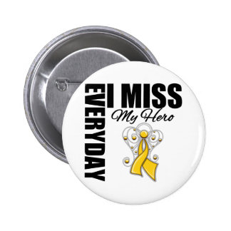 Everyday I Miss My Hero Childhood Cancer Pin
