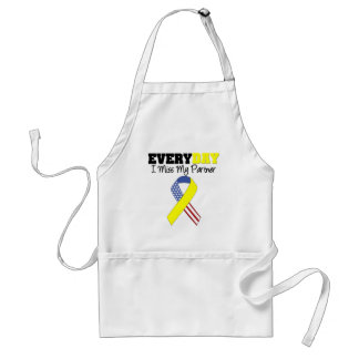 Everyday I Miss My Partner Military Adult Apron