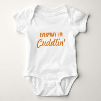 Everyday I'm Cuddlin' Funny Baby Baby Bodysuit