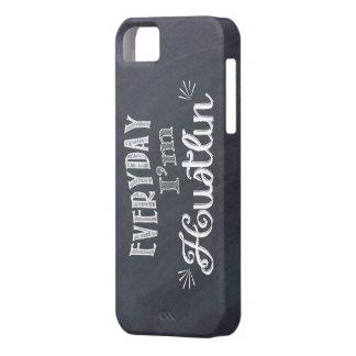 Everyday I'm Hustlin' Chalkboard iphone case