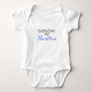 Everyday I'm Hustlin Funny Baby Bodysuit
