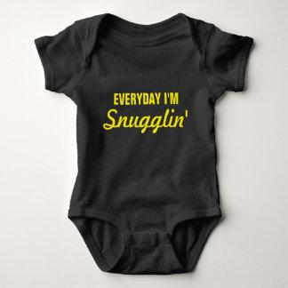 Everyday I'm Snugglin' Funny Baby Bodysuit