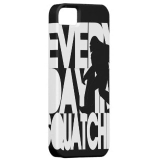 Everyday I'm Squatchin' black and white iPhone 5 Case