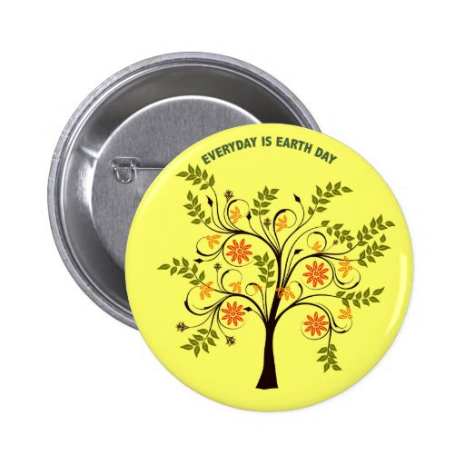EVERYDAY IS EARTH DAY PINBACK BUTTONS