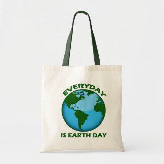 EVERYDAY IS EARTH DAY CANVAS BAGS