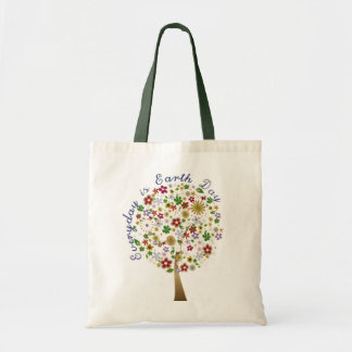 Everyday is earth day budget tote bag