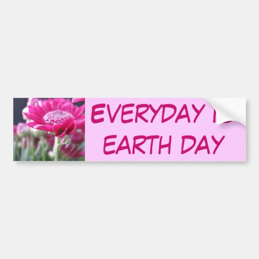Everyday is earth day bumper sticker