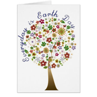 Everyday is earth day greeting cards