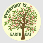 EVERYDAY IS EARTH DAY CLASSIC ROUND STICKER