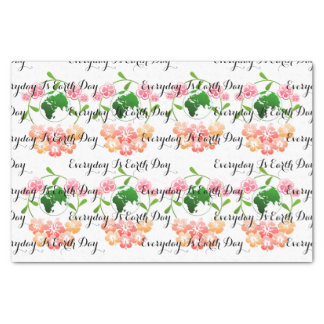 """""""Everyday is Earth Day"""" Floral Tissue Paper. Tissue Paper"""