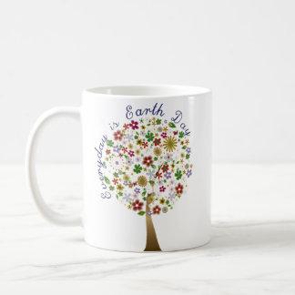 Everyday is earth day coffee mugs