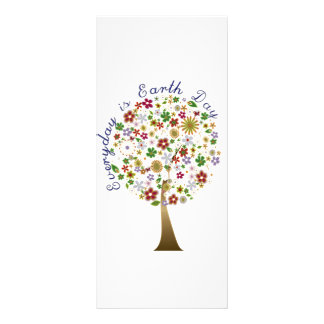 Everyday is earth day rack card design