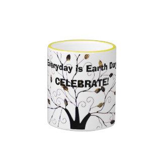 Everyday is Earth Day Tree of Life Original Design Coffee Mugs
