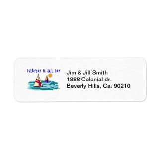 Everyday Is Sail Day Return Address Label
