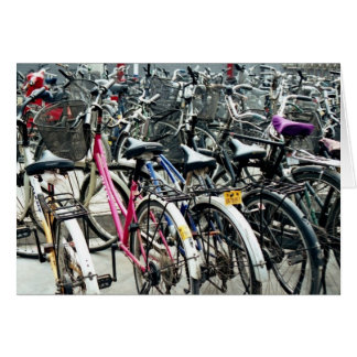 Everyday Life in China I: Bicycles Parked Card