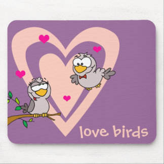 Everyday Romance: Love Birds Mouse Pad