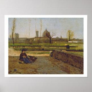 Everyday Scene, near Florence, c.1865 Poster
