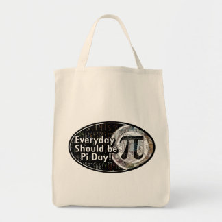 Everyday Should Be Pi Day Grocery Tote Bag