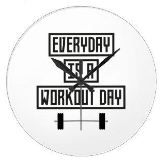 Everyday Workout Day Z3iqj Large Clock