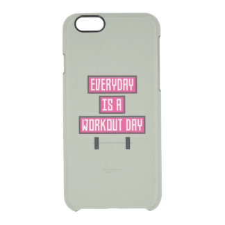 Everyday Workout Day Z52c3 Clear iPhone 6/6S Case