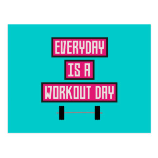 Everyday Workout Day Z52c3 Postcard