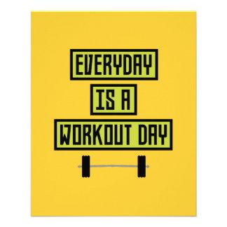 Everyday Workout Day Z81fo 11.5 Cm X 14 Cm Flyer