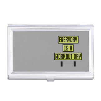 Everyday Workout Day Z81fo Business Card Holder