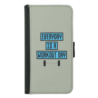 Everyday Workout Day Z852m Samsung Galaxy S5 Wallet Case