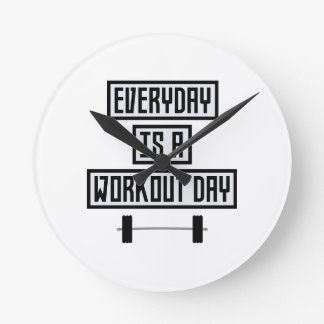 Everyday Workout Day Zge5d Round Clock