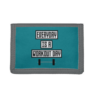 Everyday Workout Day Zge5d Tri-fold Wallet