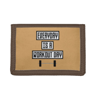 Everyday Workout Day Zge5d Trifold Wallet