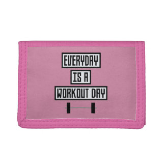 Everyday Workout Day Zge5d Trifold Wallets