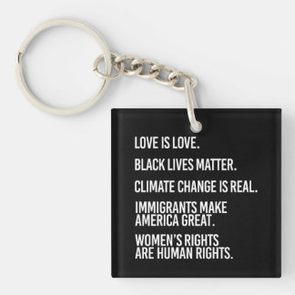Everyone deserves human rights and climate change  key ring
