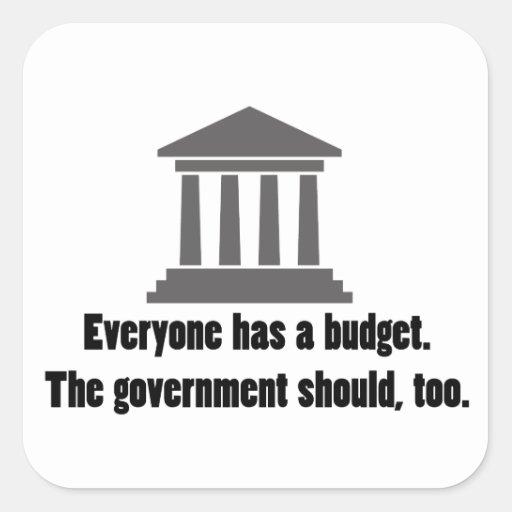 Everyone has a Budget Sticker