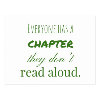 """""""Everyone has a chapter.."""" Postcard"""