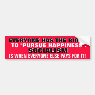 EVERYONE HAS THE RIGHT TO PURSUE HAPPINESS. BUMPER STICKER