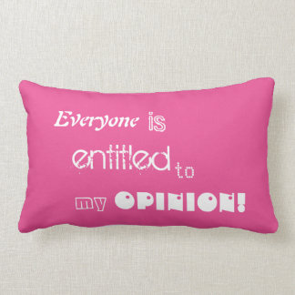 everyone is entitled to my opinion long cushion